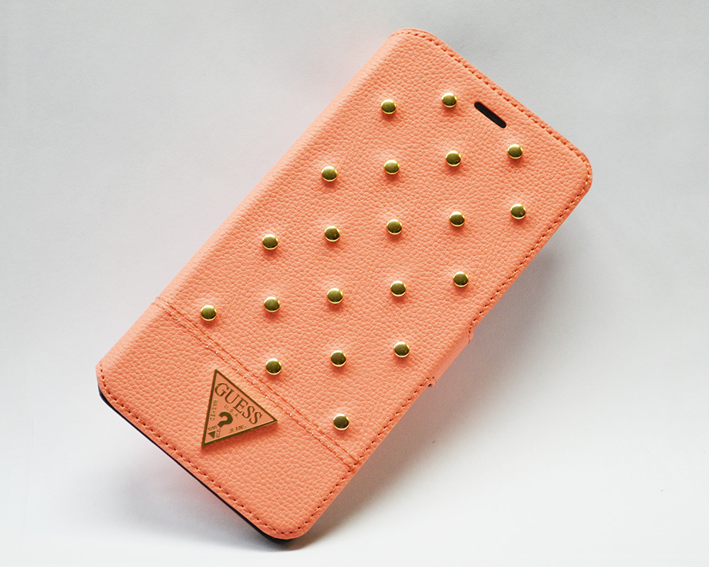 Чехол Guess Tessi Apple iPhone 6, A1586, A1549 Book Type Coral (GUFLBKP6STSM)