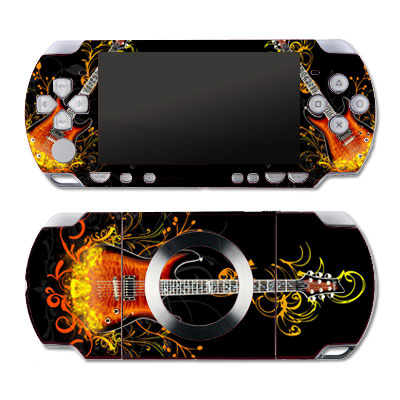 Vinyl Skin Kit Sony PSP 2000 Slim (Гитара