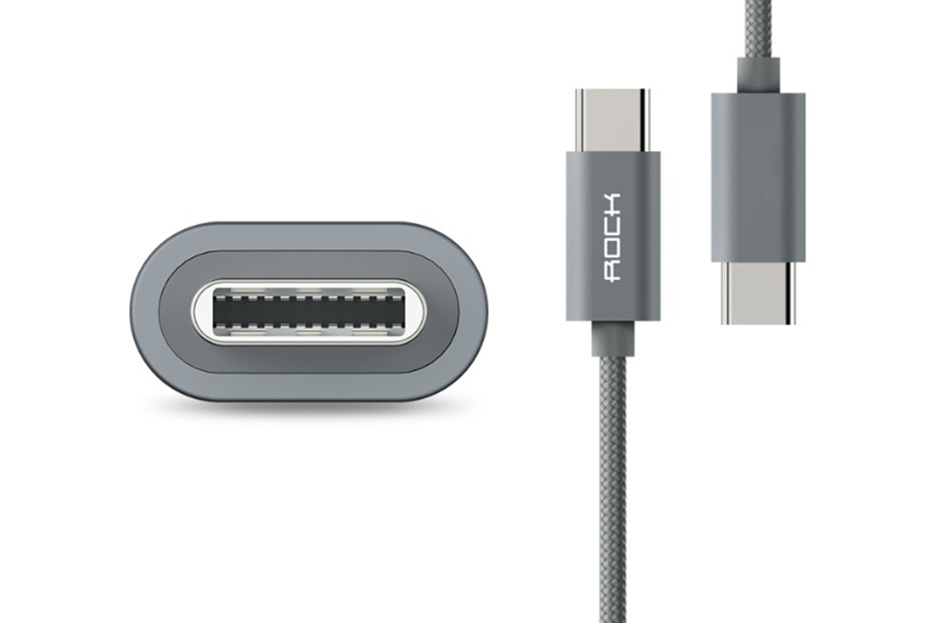 Кабель Rock C2 USB Type-C серого цвета